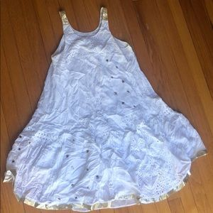 NWT White and Gold Dress